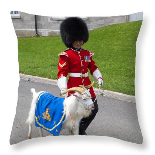 Baptiste the Goat Throw Pillow by Edward Fielding