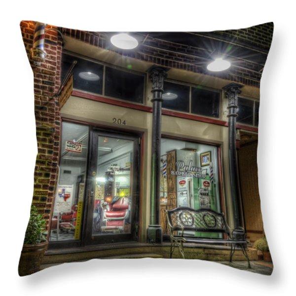 Barbershop Since 1892 Throw Pillow by Scott Norris