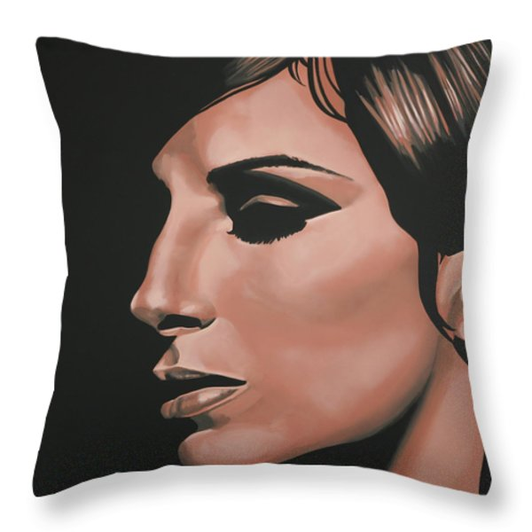 Barbra Streisand Throw Pillow by Paul  Meijering