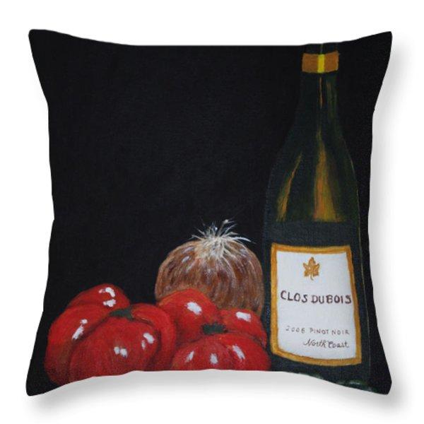 Barb's Italian Sauce Mix Throw Pillow by Patricia Novack
