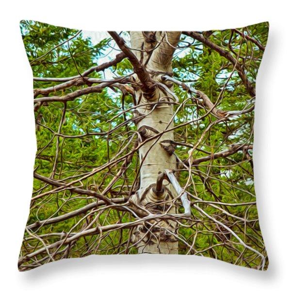 Bare Essentials Throw Pillow by Omaste Witkowski