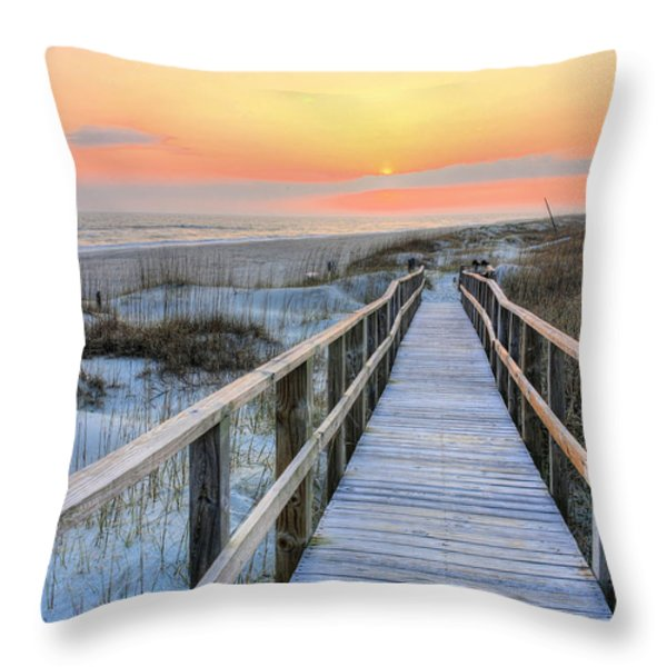 Barefoot Throw Pillow by JC Findley