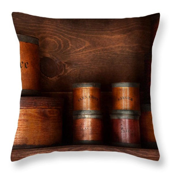 Barista - Coffee - Coffee and spice Throw Pillow by Mike Savad