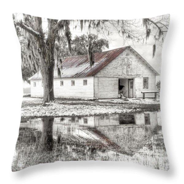 Barn Reflection Throw Pillow by Scott Hansen