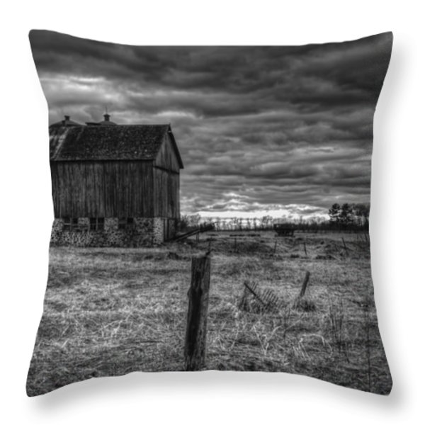Barn Yard Throw Pillow by Thomas Young