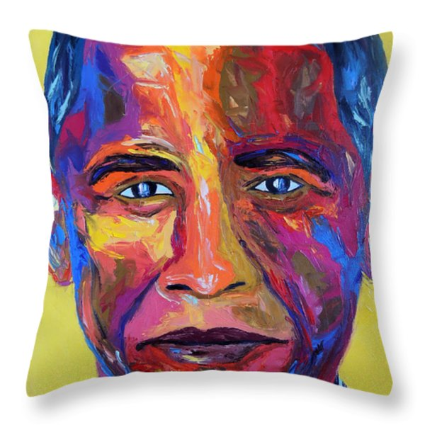 Barry Throw Pillow by Arturo Garcia