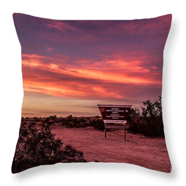 Barry Goldwater Range Throw Pillow by Robert Bales