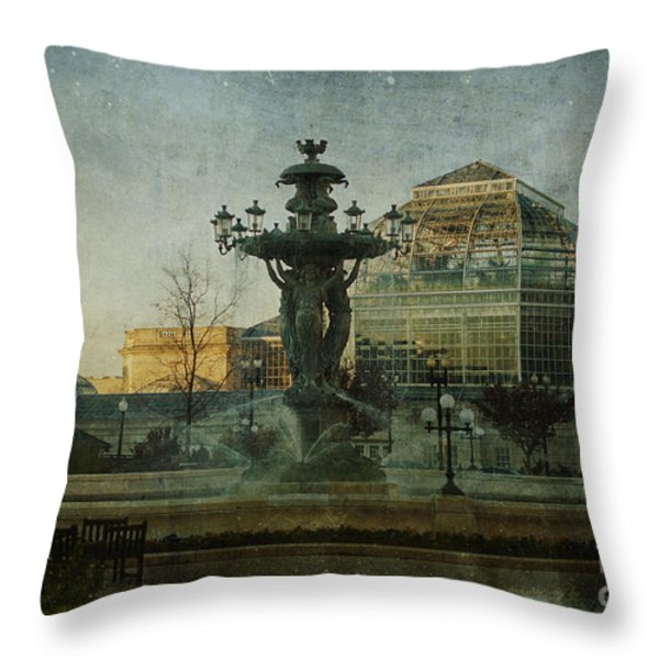 Bartholdi Afternoon Throw Pillow by Terry Rowe