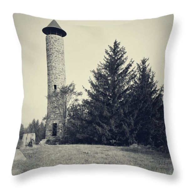 Bartlett Tower Dartmouth College Hanover Nh Throw Pillow by Edward Fielding