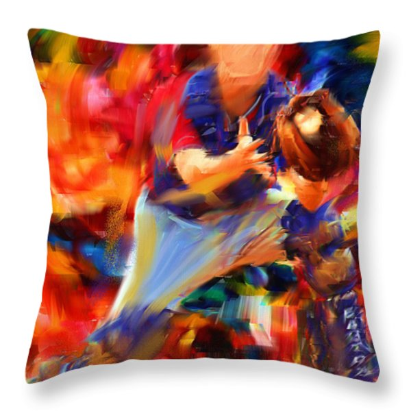 Baseball II Throw Pillow by Lourry Legarde
