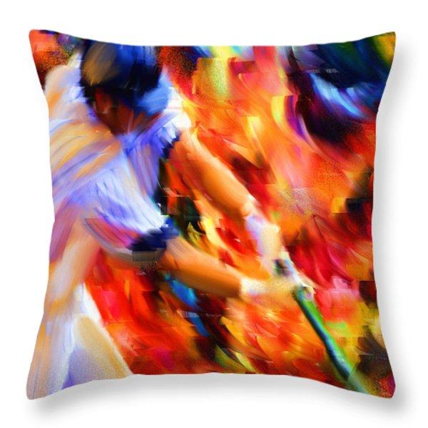 Baseball IIi Throw Pillow by Lourry Legarde