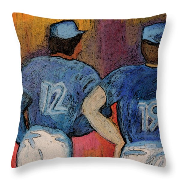 Baseball Team by jrr  Throw Pillow by First Star Art
