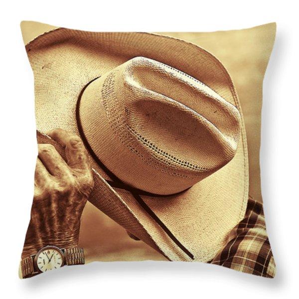 Bashful Throw Pillow by Sandi Mikuse