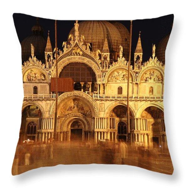 Basilica Di San Marco Throw Pillow by George Buxbaum