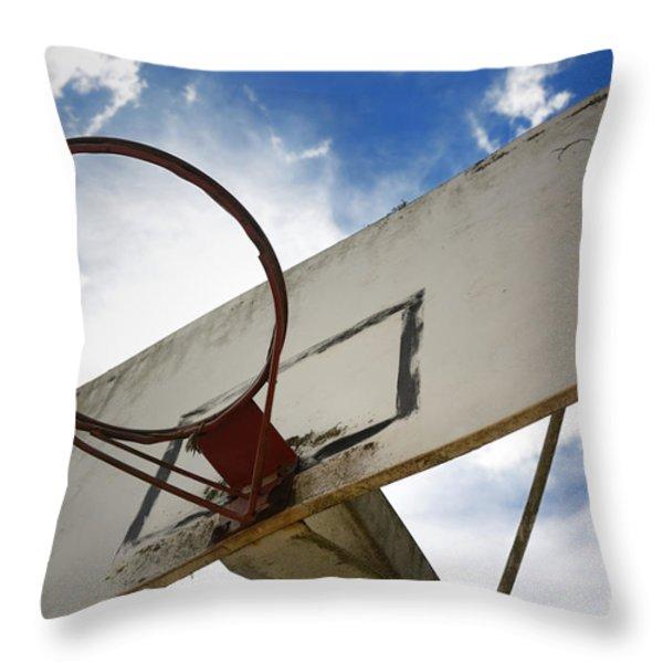 Basketball Hoop Throw Pillow by Bernard Jaubert