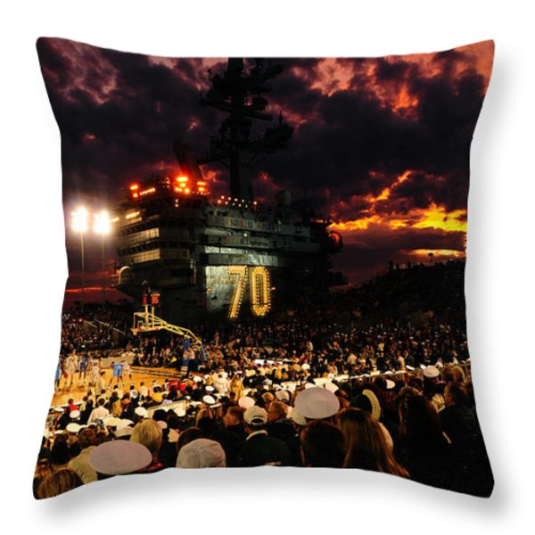Basketball On A Carrier Throw Pillow by Mountain Dreams
