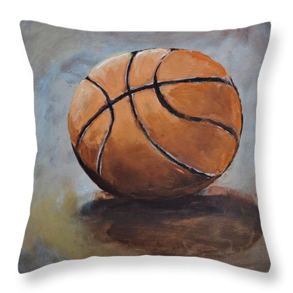 Basketball Throw Pillow by Shannon Lee