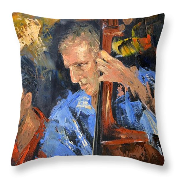 Bass man Throw Pillow by Anthony Falbo