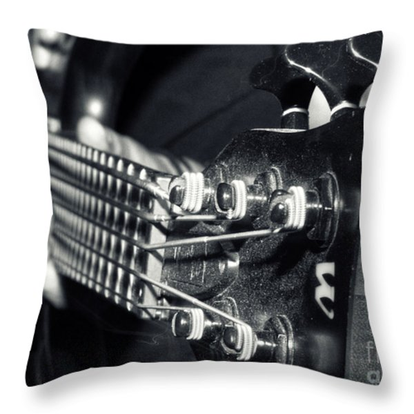Bass  Throw Pillow by Stylianos Kleanthous