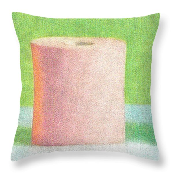 Bath tissue Now you can choose colors Throw Pillow by M and L Creations