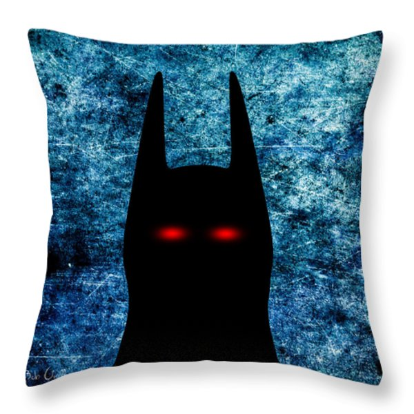 Batman - Dark Knight Number 1 Throw Pillow by Bob Orsillo