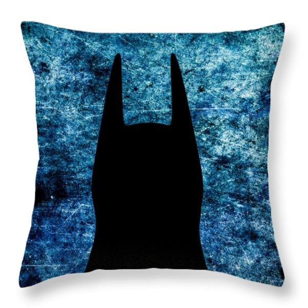 Batman - Dark Knight Number 2 Throw Pillow by Bob Orsillo