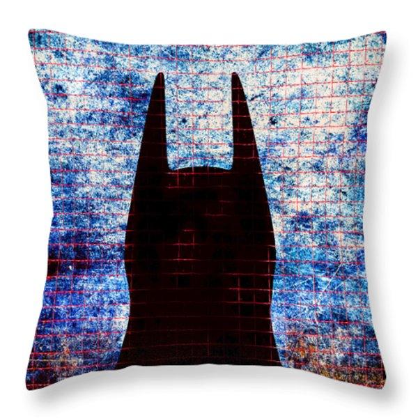 Batman - Dark Knight Number 3 Throw Pillow by Bob Orsillo
