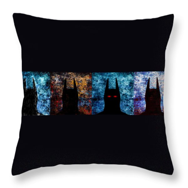 Batman - The Dark Knight Throw Pillow by Bob Orsillo