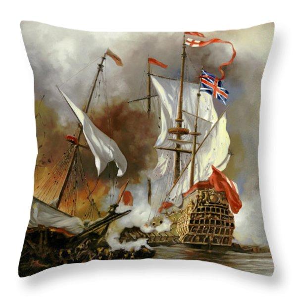 Battaglia Sul Mare Throw Pillow by Guido Borelli