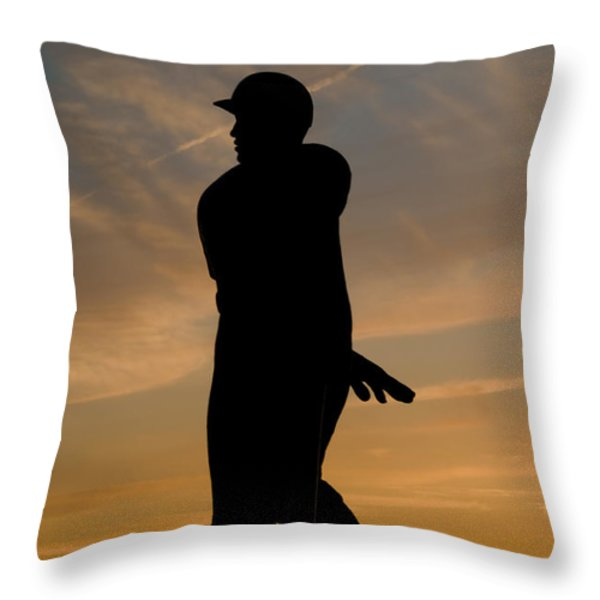 Batter at Dawn - Phillies Throw Pillow by Bill Cannon