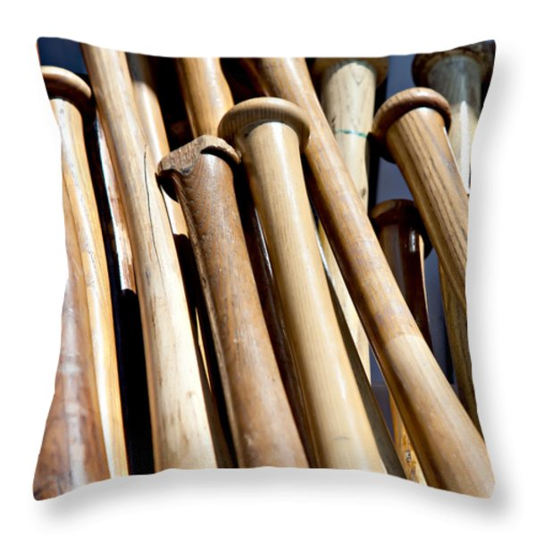 Batter Up Throw Pillow by Art Block Collections