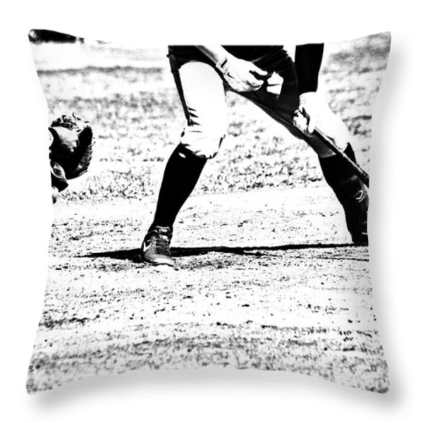 Batter Up Throw Pillow by Karol  Livote