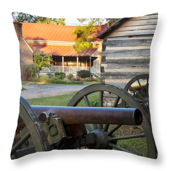 Battle Of Franklin Throw Pillow by Brian Jannsen