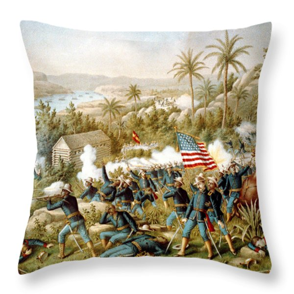 Battle Of Qusimas Throw Pillow by Kurz and Allison