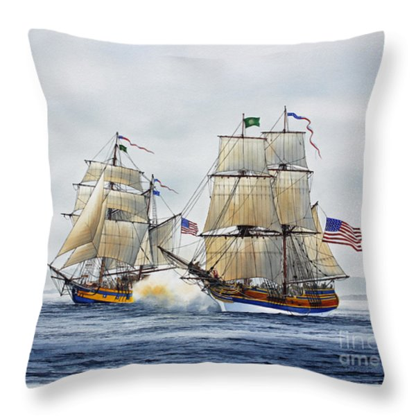 BATTLE SAIL Throw Pillow by James Williamson