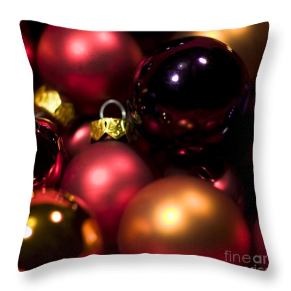 Bauble Abstract Throw Pillow by Anne Gilbert