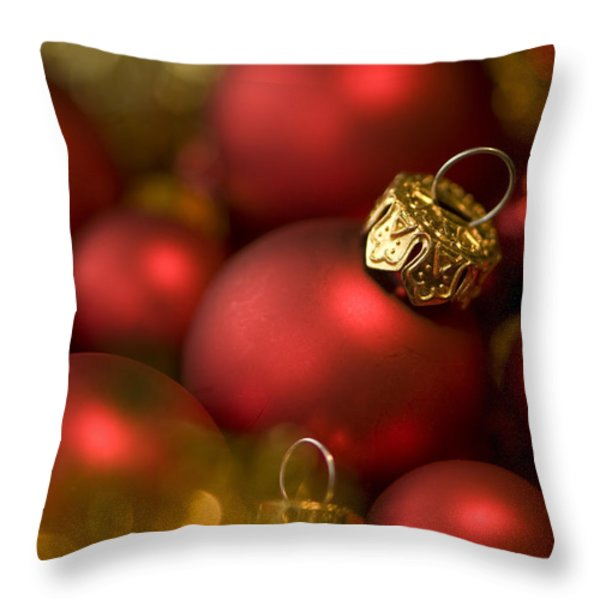 Baubles Throw Pillow by Anne Gilbert