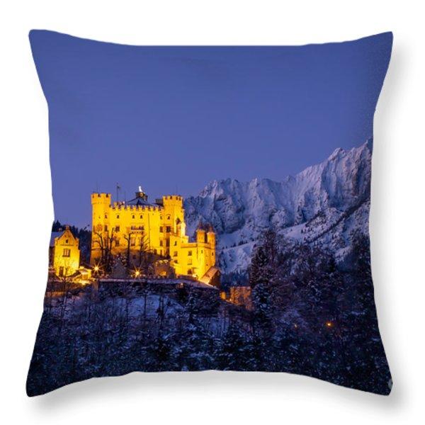 Bavarian Castle Throw Pillow by Brian Jannsen