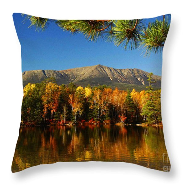 Baxter Fall Reflections  Throw Pillow by Alana Ranney