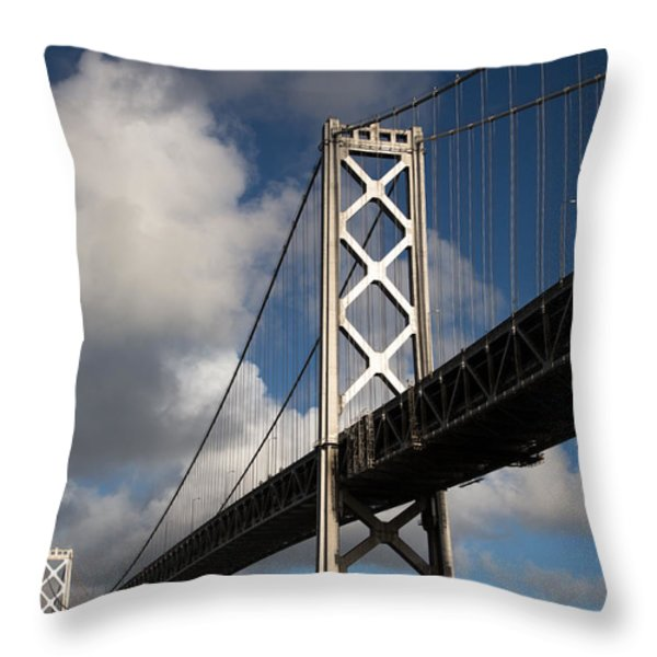 Bay Bridge after the Storm Throw Pillow by John Daly