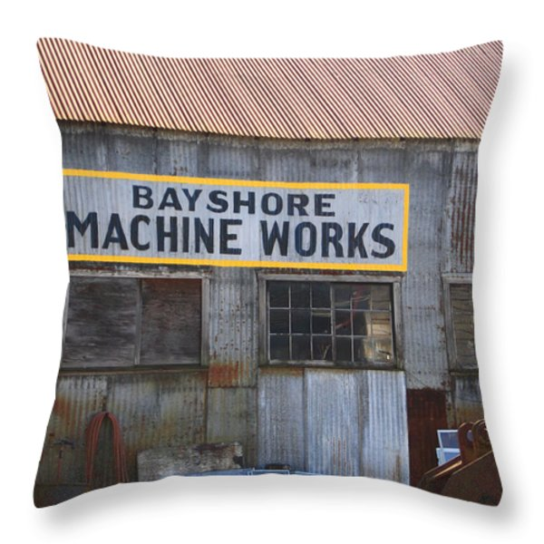 Bayshore Machine Works  Throw Pillow by Kym Backland