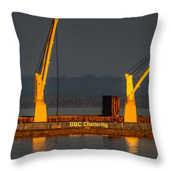 BBC Chartering Throw Pillow by Paul Freidlund