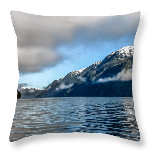 BC Inside Passage Throw Pillow by Robert Bales