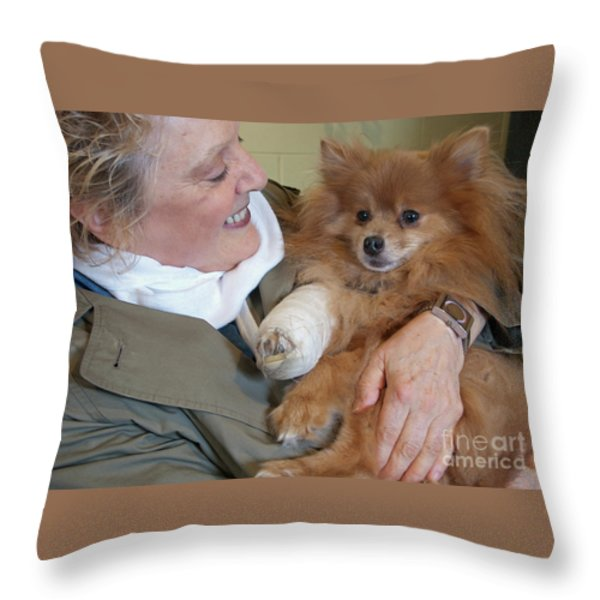 Be Better Soon Throw Pillow by Ann Horn