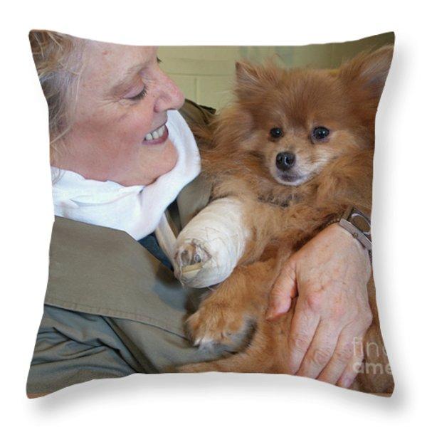 Be Better Soon Throw Pillow by Ann Horn