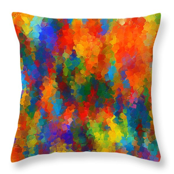Be Bold Throw Pillow by Lourry Legarde