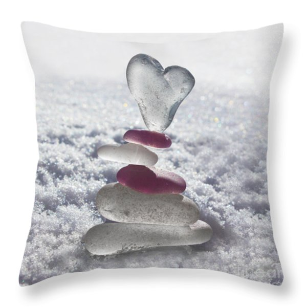 Be Careful With My Heart Throw Pillow by Barbara McMahon