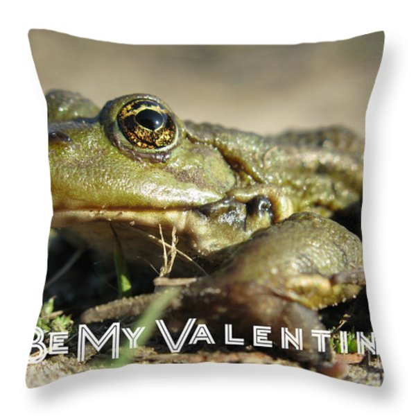 Be My Valentine Throw Pillow by Ausra Paulauskaite