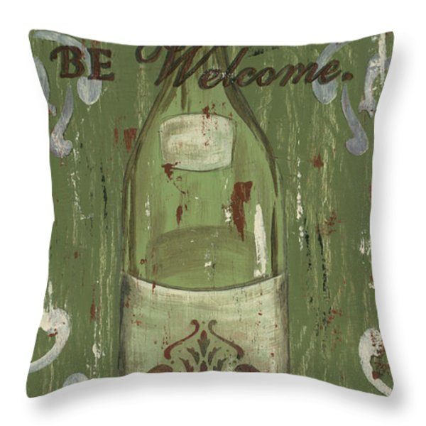 Be Our Guest Throw Pillow by Debbie DeWitt