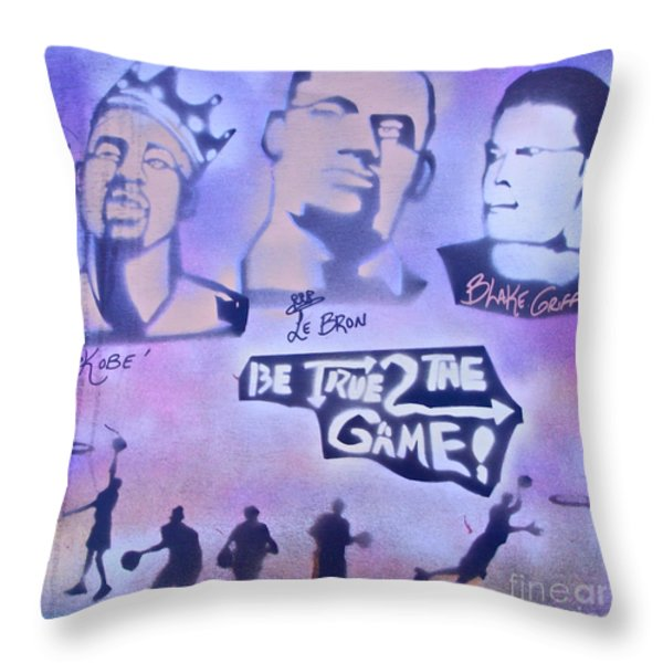 Be True 2 The Game 1 Throw Pillow by Tony B Conscious